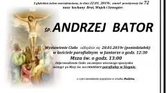 Zmarł Andrzej Bator. Żył 72 lata.