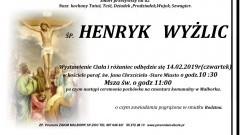 Zmarł Henryk Wyżlic. Żył 82 lata