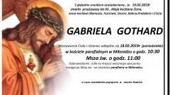 Zmarła Gabriela Gothard. Żyła 65 lat.