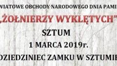 """Powiatowe obchody Narodowego Dnia Pamięci """"Żołnierzy Wyklętych"""" w powiecie sztumskim."""