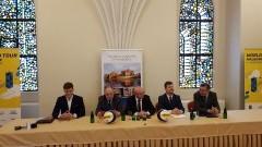 Konferencja na temat międzynarodowego turnieju siatkówki plażowej w Malborku