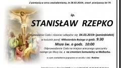 Zmarł Stanisław Rzepko. Żył 74 lata.