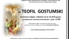 Zmarł Teofil Gostumski. Żył 59 lat.