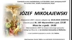 Zmarł Józef Mikołajewski. Żył 87 lat.