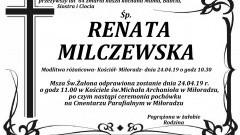 Zmarła Renata Milczewska. Żyła 64 lata.