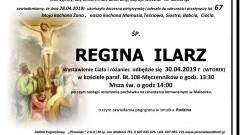 Zmarła Regina Ilarz. Żyła 67 lat.