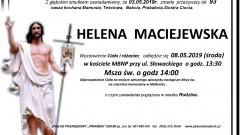 Zmarła Helena Maciejewska. Żyła 93 lata.