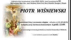 Zmarł Piotr Wiśniewski. Żył 54 lata.