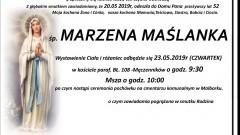 Zmarła Marzena Maślanka. Żyła 52 lata