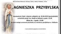 Zmarła Agnieszka Przybylska. Żyła 98 lat.