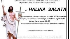 Zmarła Halina Sałata. Żyła 57 lat.