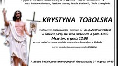 Zmarła Krystyna Tobolska. Żyła 79 lat