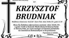 Zmarł Krzysztof Brudniak.