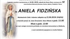 Zmarła Aniela Fidzińska. Żyła 92 lata