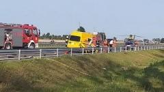 S7 Wypadek. Zderzyły się dwa samochody dostawcze.