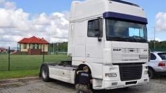 Podejrzana ciężarówka zatrzymana na przejściu w Grzechotkach