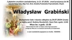 Zmarł Władysław Grabiński. Żył 96 lat.