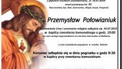 Zmarł Przemysław Połowianiuk. Żył 41 lat.