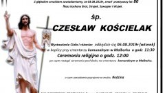 Zmarł Czesław Kościelak. Żył 80 lat.