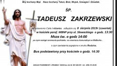 Zmarł Tadeusz Zakrzewski. Żył 71 lat.