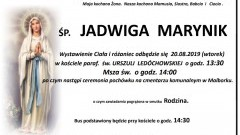 Zmarła Jadwiga Marynik. Żyła 77 lat.