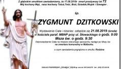 Zmarł Zygmunt Dzitkowski. Żył 72 lata.