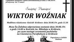 Zmarł Wiktor Woźniak. Żył 73 lata.
