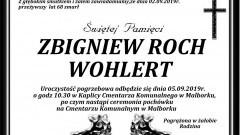 Zmarł Zbigniew Roch Wohlert. Żył 68 lat.