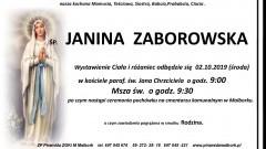 Zmarła Janina Zaborowska. Żyła 86 lat