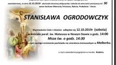 Zmarła Stanisława Ogrodowczyk. Żyła 90 lat.