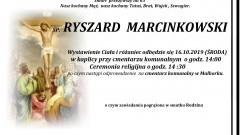 Zmarł Ryszard Marcinkowski. Żył 63 lata.