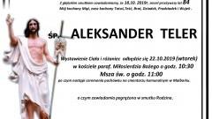Zmarł Aleksander Teler. Żył 84 lata