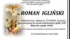 Zmarł Roman Igliński. Żył 63 lata.
