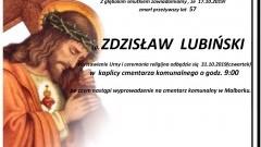 Zmarł Zdzisław Lubiński. Żył 57 lat.