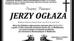 Zmarł Jerzy Ogłaza. Żył 71 lat.
