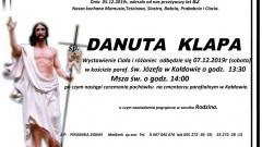 Zmarła Danuta Klapa. Żyła 82 lata.