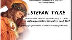 Zmarł Stefan Tylke. Żył 68 lat.