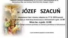 Zmarł Józef Szacuń. Żył 87 lat.