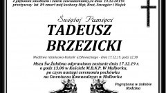 Zmarł Tadeusz Brzezicki. Żył 89 lat.