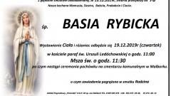Zmarła Basia Rybicka. Żyła 78 lat.