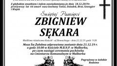 Zmarł Zbigniew Sękara. Żył 64 lata.