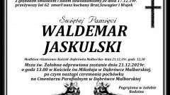 Zmarł Waldemar Jaskulski. Żył 62 lata.