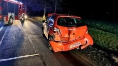 Karambol z udziałem czerech samochodów. Sprawca wypadku pod Tragaminem trafił do izby wytrzeźwień, a poszkodowani do szpitala.