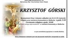 Zmarł Krzysztof Górski. Żył 53 lata.