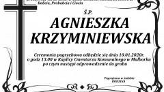 Zmarła Agnieszka Krzyminiewska. Żyła 83 lata.