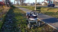 Co skrywał porzucony wózek na alei Wojska Polskiego w Malborku?