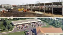Budowa pawilonu handlowego przy ulicy Chodkiewicza w Malborku. Zobacz postęp prac.