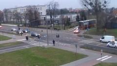 Kolizja ciężarówki z osobówką przy SP8 w Malborku.