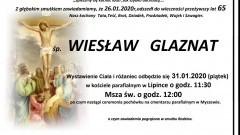 Zmarł Wiesław Glaznat. Żył 65 lat.
