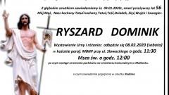 Zmarł Ryszard Dominik. Żył 56 lat.
